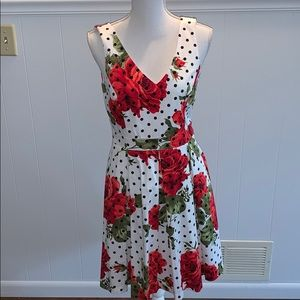 HP Jessica Simpson Rose Polkadot Dress Pockets Bow